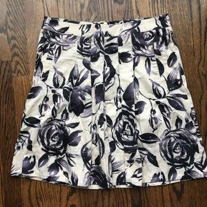 CAbi Rosie Floral Watercolor Print Skirt size 6